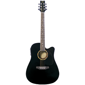 JB Player JBEA25 Acoustic Electric Guitar - Black Finish