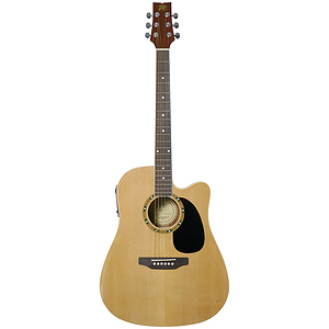 JB Player JBEA25 Acoustic Electric Guitar - Natural Finish