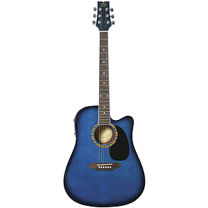 JB Player JBEA25 Acoustic Electric Guitar - Blue Finish
