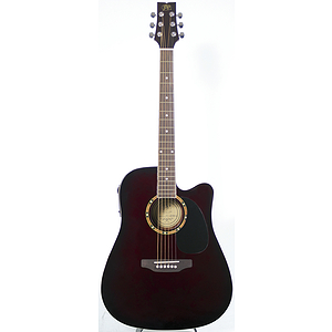 JB Player JBEA25 Acoustic Electric Guitar - Walnut Finish