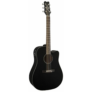 Takamine Jasmine JD-39CE Dreadnought Acoustic-Electric Guitar - Black