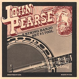 John Pearse 80/20 Bronze 5-string Banjo Strings - Light, 3 Sets