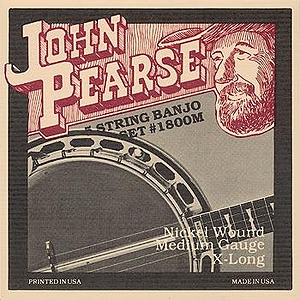 John Pearse Nickel Wound 5-string Banjo Strings - Medium, 3 Sets