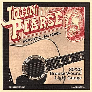 John Pearse 80/20 Bell Bronze Acoustic Guitar Strings - Light, 3 Sets