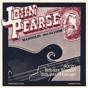 John Pearse 80/20 Bronze Mandolin Strings - Medium, 3 Sets