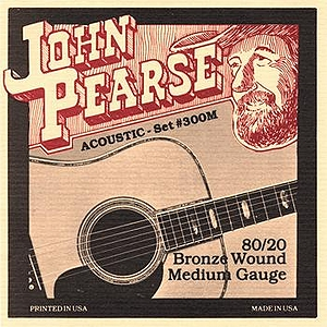 John Pearse 80/20 Bell Bronze Acoustic Guitar Strings - Medium, 3 Sets