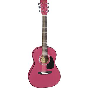 """J. Reynolds 36"""" 3/4-size Acoustic Guitar - Pink"""