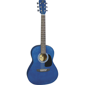 "J. Reynolds 36"" 3/4-size Acoustic Guitar - Transparent Blue"