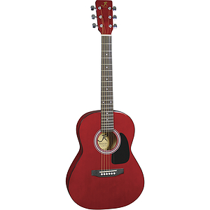 "J. Reynolds 36"" 3/4-size Acoustic Guitar - Transparent Red"