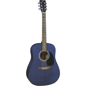 J. Reynolds 65 Dreadnought Guitar - Transparent Blue