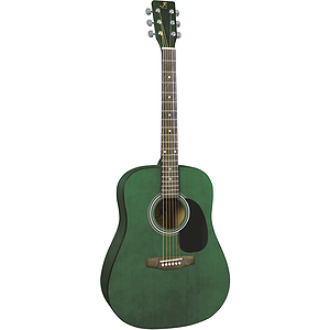 J. Reynolds 65 Dreadnought Guitar - Transparent Green