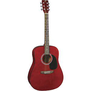 J. Reynolds 65 Dreadnought Guitar - Transparent Red