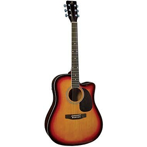J. Reynolds Dreadnought Cutaway Acoustic-Electric Guitar - Natural