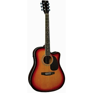 J. Reynolds 70 Dreadnought Guitar - Sunburst