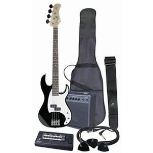 J. Reynolds JRPAK7AS Bass Guitar Starter Package - Antique Sunburst