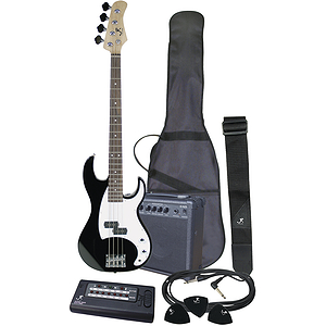 J. Reynolds JRPAK7B Bass Guitar Starter Package - Black
