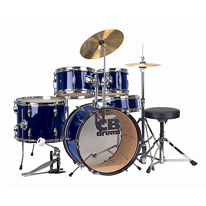 CB Drums JRX55-PK-MBL 5-piece Junior Drum Set - Metallic Blue