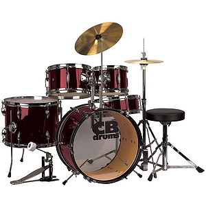 CB Drums JRX55-PK-WR 5-piece Junior Drum Set - Wine Red