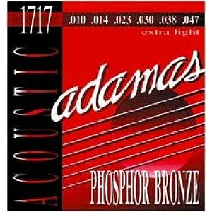 Adamas Phosphor Bronze Acoustic Guitar Strings - Extra Light, 3 Sets