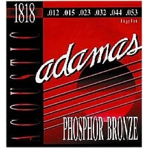 Adamas Phosphor Bronze Acoustic Guitar Strings - Light, 3 Sets
