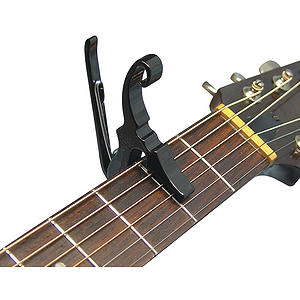 Kyser Shortcut Quick-Change Capo - 3-string capo, Black