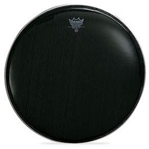 "Remo Black Max Ebony Marching Snare Drum Batter Head - 13"" w/Mylar Underlay"