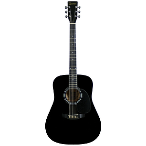 Lauren Beginner Dreadnought Guitar - Black
