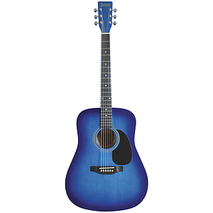 Lauren Beginner Dreadnought Guitar - Blueburst