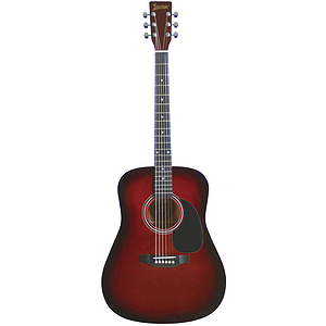 Lauren Beginner Dreadnought Guitar - Brownburst