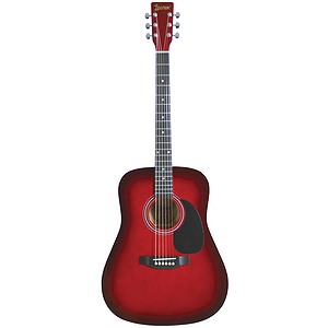 Lauren Beginner Dreadnought Guitar - Redburst