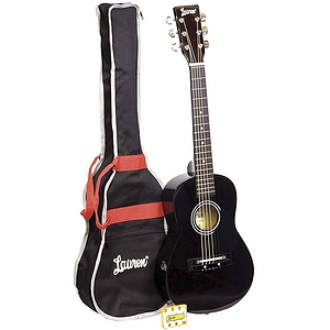 Lauren Children's Beginner Acoustic Guitar Package - Black Guitar