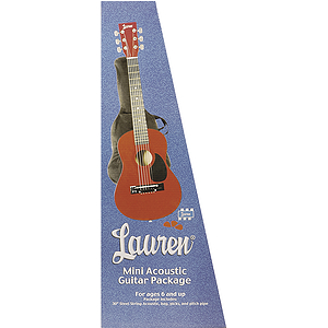 "Lauren 30"" Student Guitar Package - Metallic Red"
