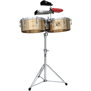 "Latin Percussion LP257-BZ Tito Puente Bronze Timbales, 14"" &  15"""