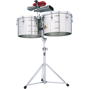 "Latin Percussion LP258-S Tito Puente Steel Timbales, 15"" & 16"""