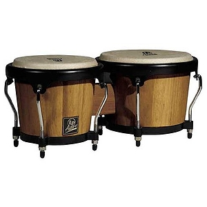 Latin Percussion LPA601-DW Aspire Wood Bongos - Dark Wood