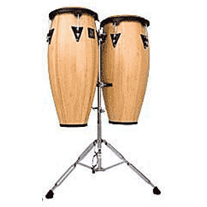 Latin Percussion Aspire Wood Conga Set - Red Wood Finish
