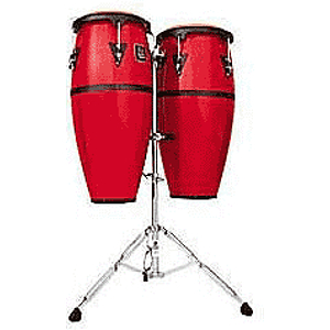Latin Percussion Aspire Fiberglass Conga Set - Black