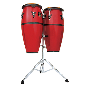 Latin Percussion Aspire Fiberglass Conga Set - Red