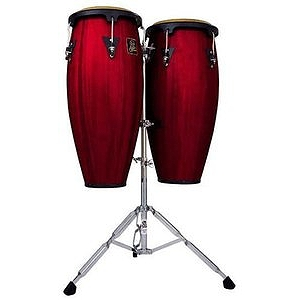 Latin Percussion LPA647-DW Aspire Wood Conga Set - Dark Wood