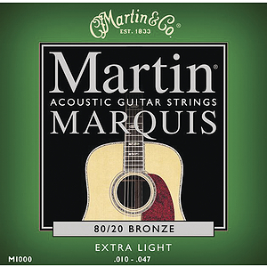 Martin Marquis 80/20 Bronze Extra Light Acoustic Strings - Box of 12 sets