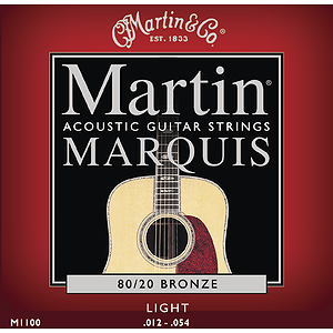 Martin Marquis 80/20 Bronze Light Acoustic Strings - 3 sets of strings