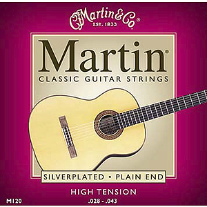 Martin Nylon Classical Guitar Strings - High Tension - 3 sets of strings
