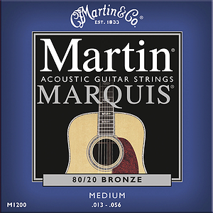 Martin Marquis 80/20 Bronze Medium Acoustic Strings - 3 sets of strings