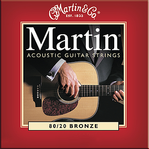 Martin 80/20 Bronze Round Wound Light Acoustic Strings - Box of 12 sets
