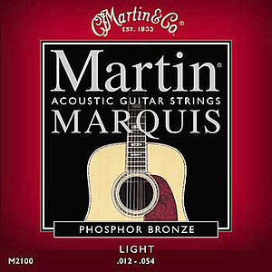 Martin Marquis Silk & Steel Folk Acoustic Guitar Strings - Box of 12 sets