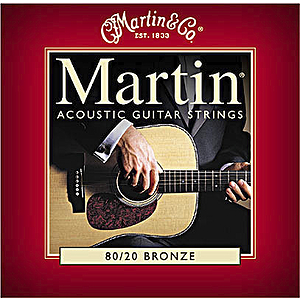 Martin 80/20 Bronze Round Wound Medium Acoustic Strings  - 3 sets of strings