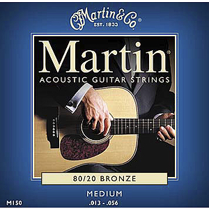 Martin 80/20 Bronze Round Wound Medium Acoustic Strings  - Box of 12 sets