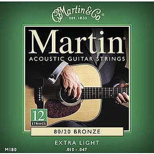 Martin 12-String 80/20 Bronze Extra Light Acoustic Strings - 3 sets of strings