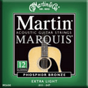 Martin & Co. M2600 12-String Acoustic Guitar Strings - Extra Light Gauge - 3 Sets