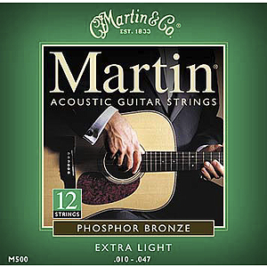 Martin 12-String Phosphor Bronze Acoustic Strings - 3 sets of strings